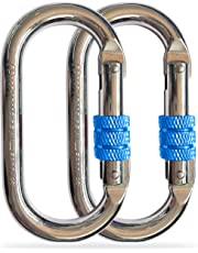 25KN Screwgate Lock Carabiner Rock Climbing Keychain Hammock Hook Dog Clip