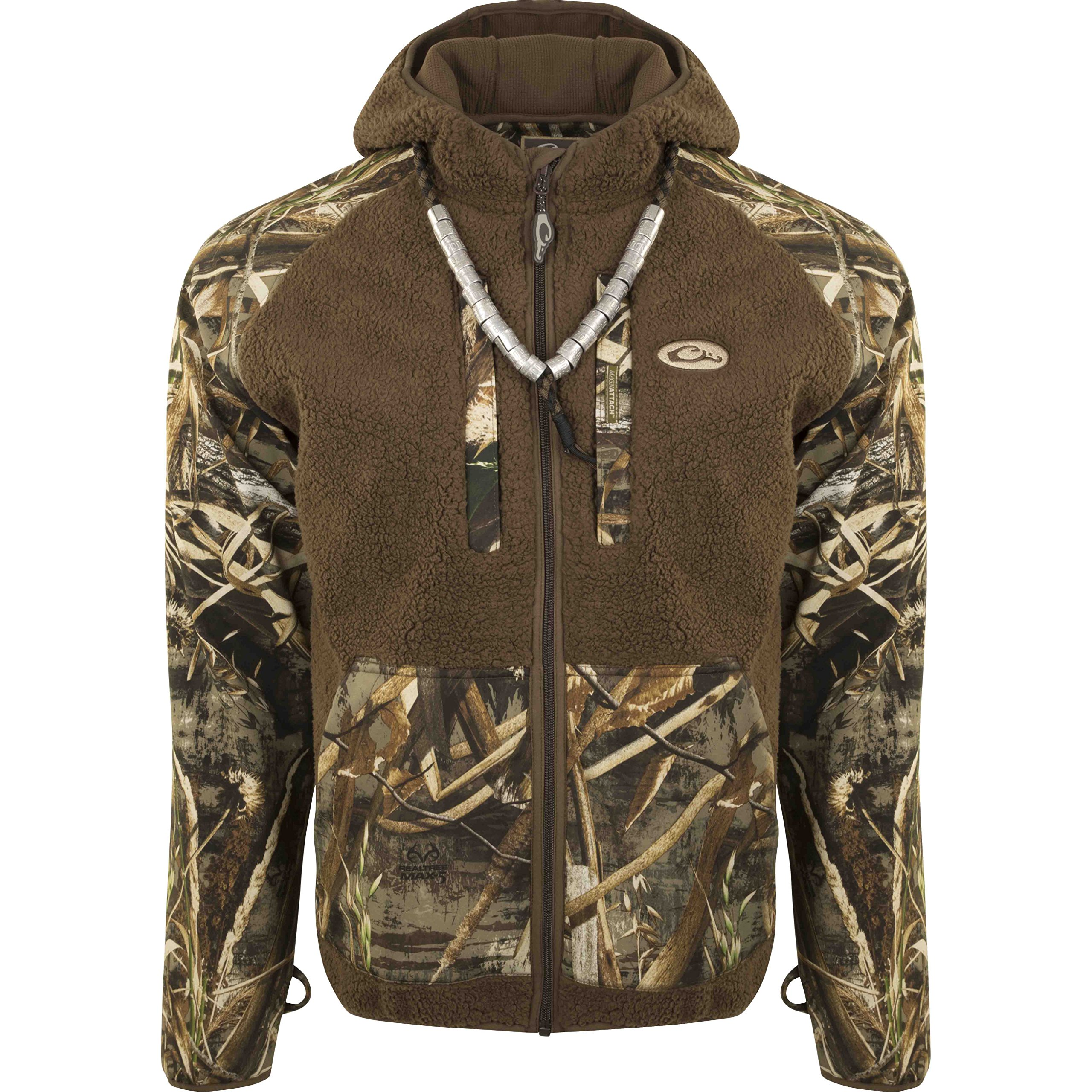 Drake MST Sherpa Fleece Hybrid Liner Full Zip with Hood (Max5, 3X-Large) by Drake