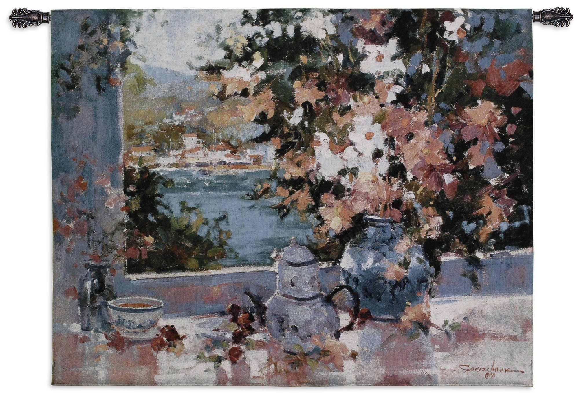 Fine Art Tapestries ''Window View'' Wall Tapestry
