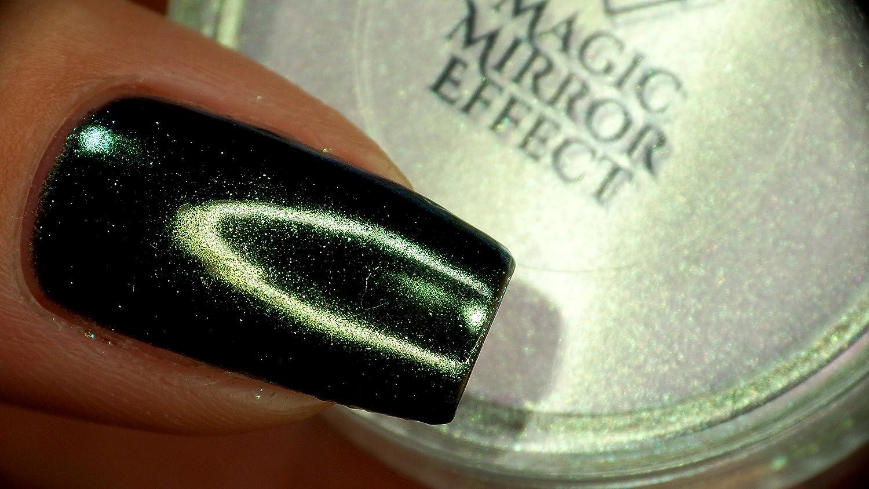 BW Nail Powder Mirror 12 Colors Magic Mirror Chrome Effect Metallic ...