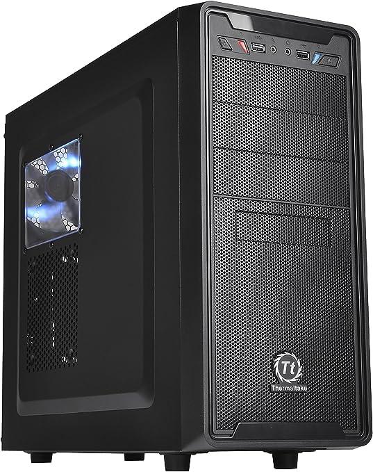 THERMALTAKE Versa G2 - Caja de Ordenador de sobremesa (ATX, USB 3.0, Ventilador de 120 mm), Negro: Amazon.es: Informática