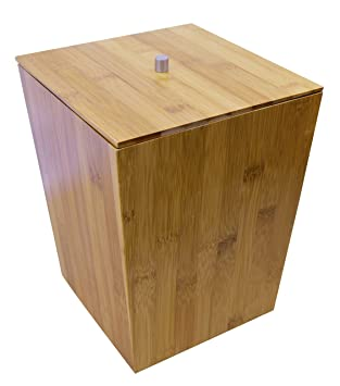Ridder Bamboo Bathroom Accessories  Wastebasket with lid. Amazon com  Ridder Bamboo Bathroom Accessories  Wastebasket with