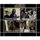 Star Wars sellos - Star Wars - 4 sellos. Menta y sheetlet sello sin montar