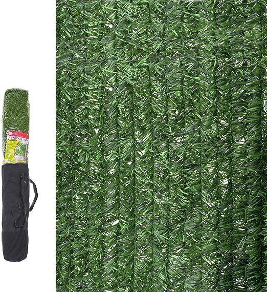 Seto Artificial de ocultación para jardín de plástico Verde - LOLAhome: Amazon.es: Jardín
