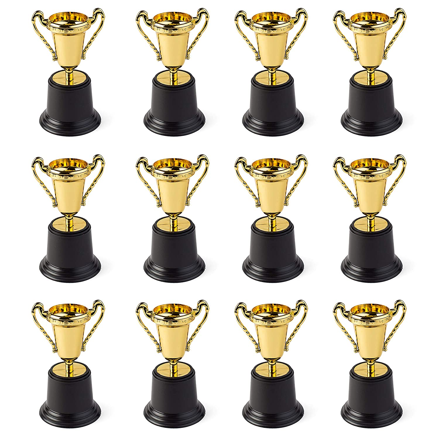 "Gold Award Trophy Cups 5"" First Place Winner Award Trophies by Neliblu Bulk Pack of 12 For Kids and Adults - Perfect To Reward Those Who Have Achieved"