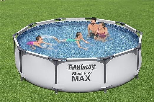 Bestway 56408 - Piscina Desmontable Tubular Steel Pro Max 305x76 cm con Depuradora de Cartucho 1.249 litros/hora: Amazon.es: Jardín