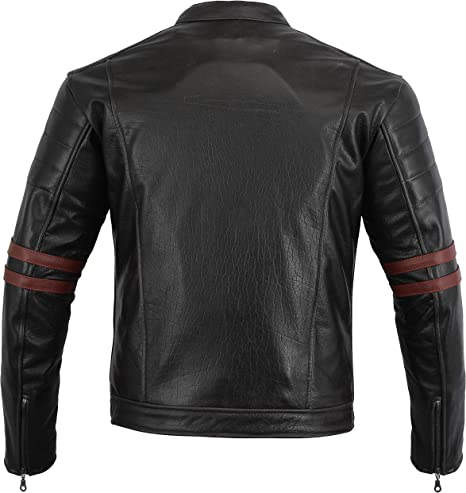 Bikers Gear  The Sturgis  Crusier CE 1621-1 PU Removable Armour CowHide Leather Motorcycle Jacket UK 40 EU 50 LARGE