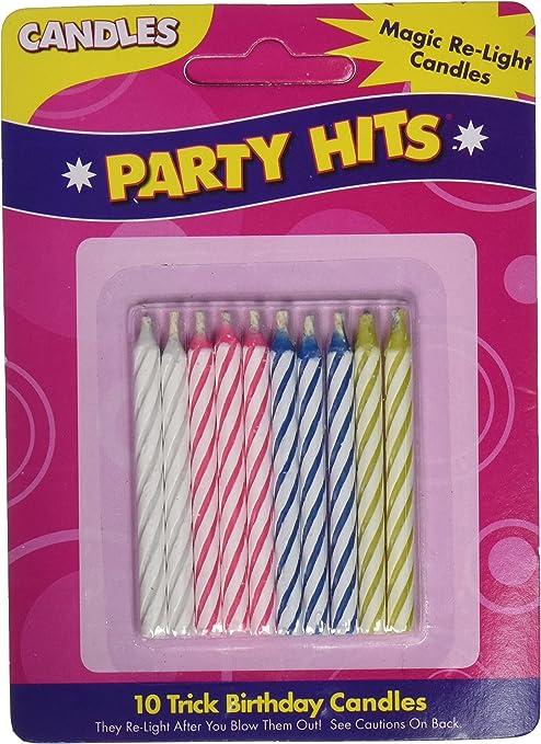 Amazon.com: Velas mágicas de cumpleaños (el paquete puede ...