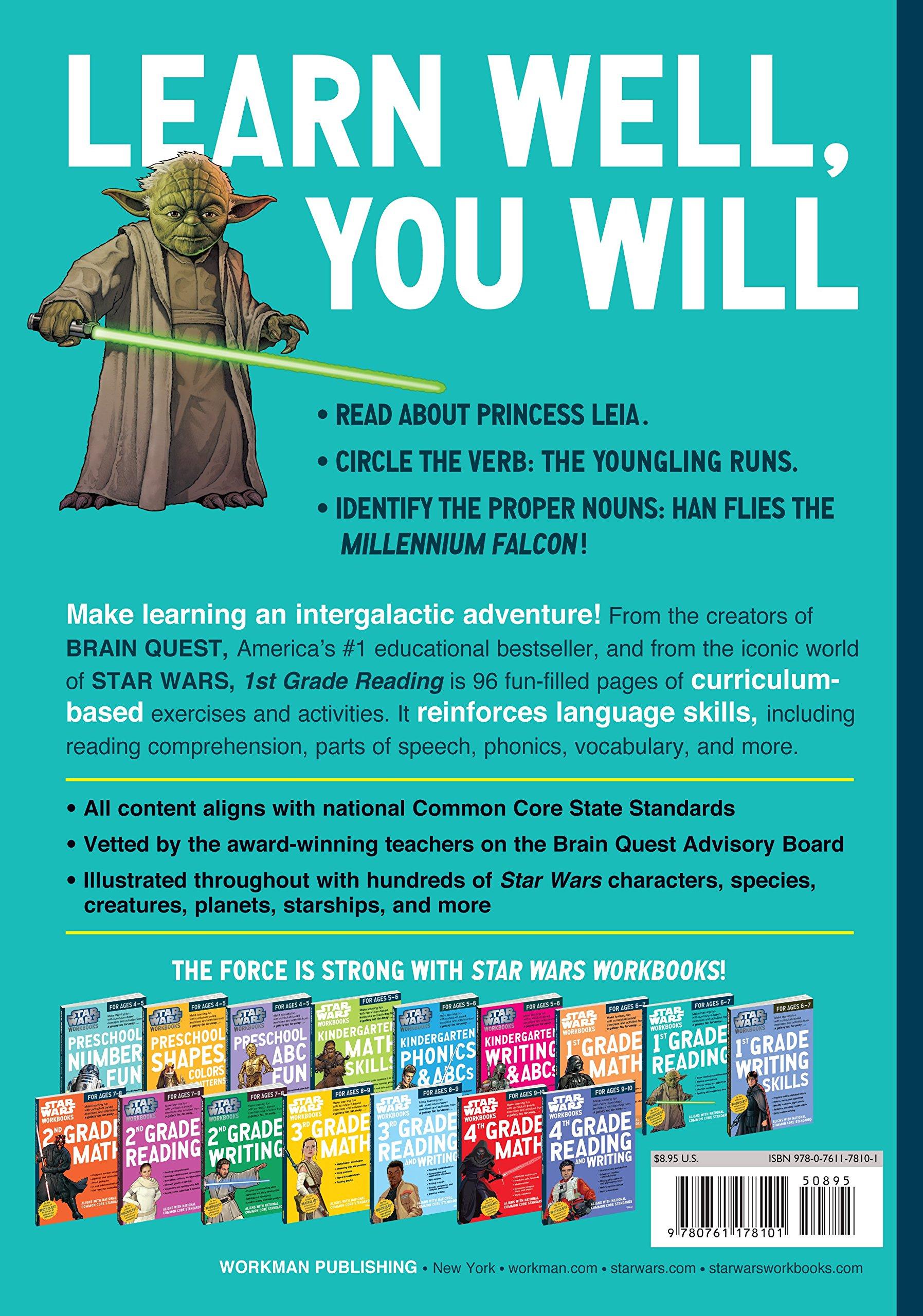 Star Wars Workbook: 1st Grade Reading (Star Wars Workbooks): Workman ...