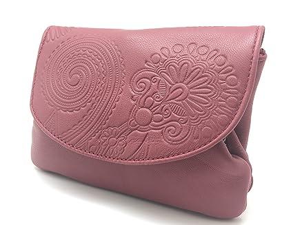 Cartera Portamonedas Monedero para Mujer Marca: Lugupell - Color: Rosa Orquídea (12,5 x 9 cm)