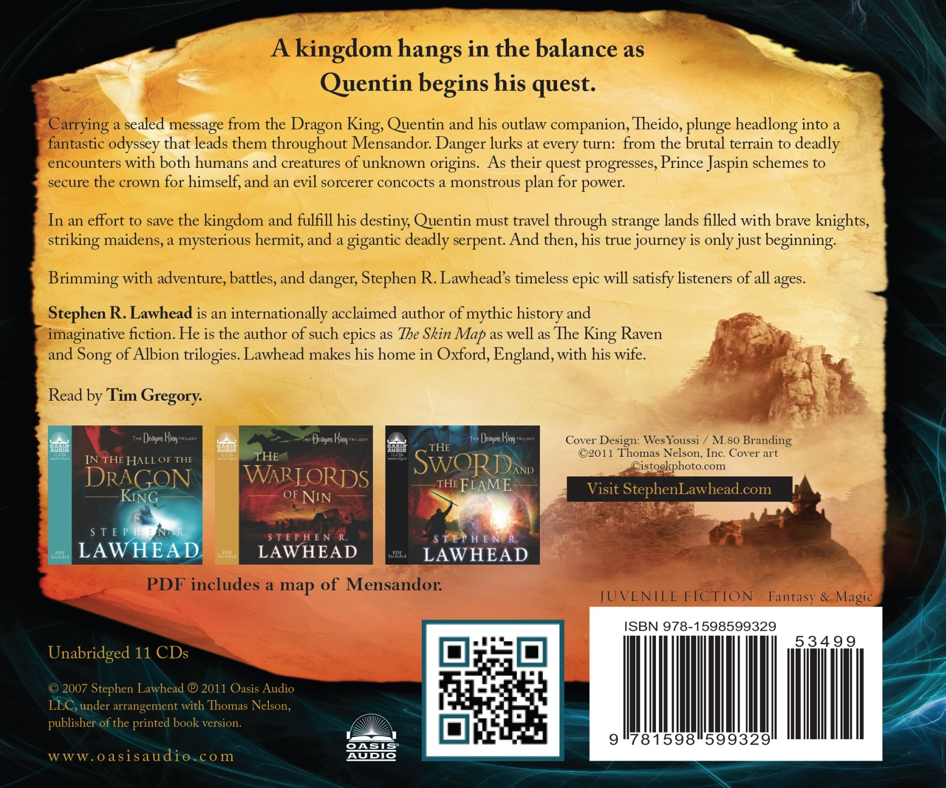 In The Hall Of The Dragon King (the Dragon King Trilogy): Stephen R  Lawhead, Tim Gregory: 9781598599329: Amazon: Books