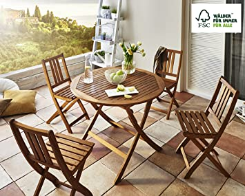 SAM® Conjunto para jardín o balcón Jasper, mueble de madera ...