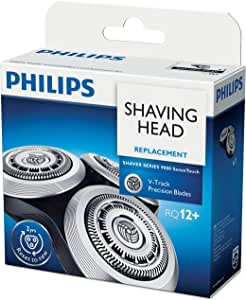 Philips Shaver Series 9000 SensoTouch Replacement Shaving Head with V-Track Precision Blades and 8-Direction ContourDetectHeads, Black/Silver, RQ12/61