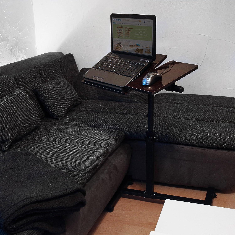 Relaxdays 10019133/_46 Tavolino Porta Pc Legno/_Composito Nero 40.5x60x95 cm