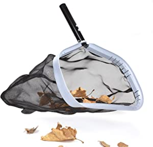 """WWDPOOL Heavy Duty Professional 17.5"""" Deep Bag Swimming Pool Leaf Skimmer Rake Net, Commercial Grade Strong Reinforced - Easy to Use - Pool Ponds Spa"""