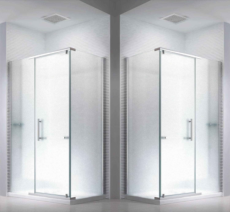 Cabina de ducha mampara de hefesto (vidrio esmerilado) 100 x 90 x ...