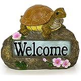 Welcome Turtle Solar Powered LED Outdoor Decor Garden Light