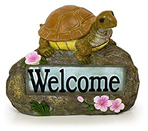 Welcome Turtle Solar Garden Light