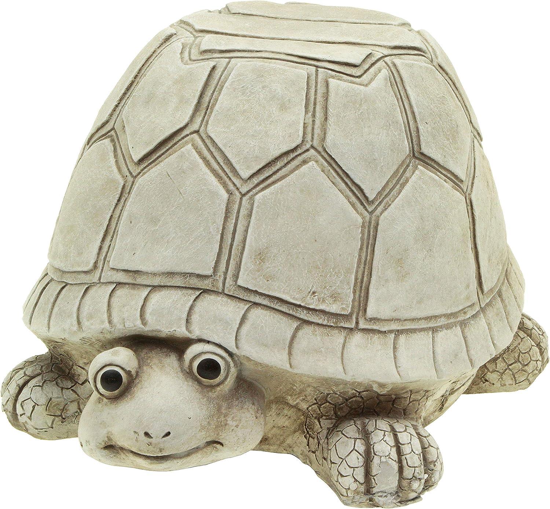 hLine - Figura Decorativa de Tortuga para jardín con Taburete para Sentarse (46 cm): Amazon.es: Jardín