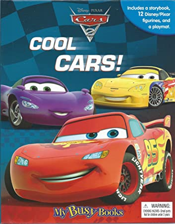 My Busy Books Disney Pixar Cars Activity Storybook Figures - Cars 2 cool cars book
