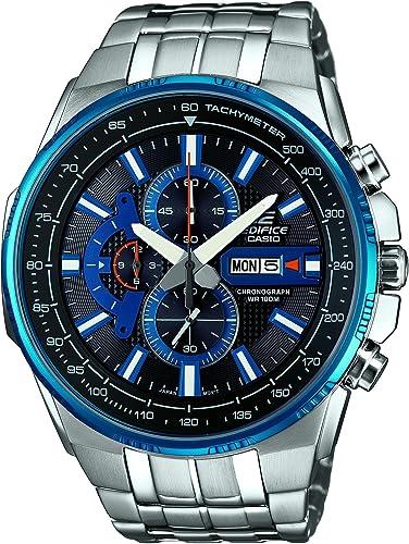 Casio Edifice Herren Massives Edelstahlgehäuse und Edelstahlarmband Uhrenarmband EFR 549D 1A2VUEF