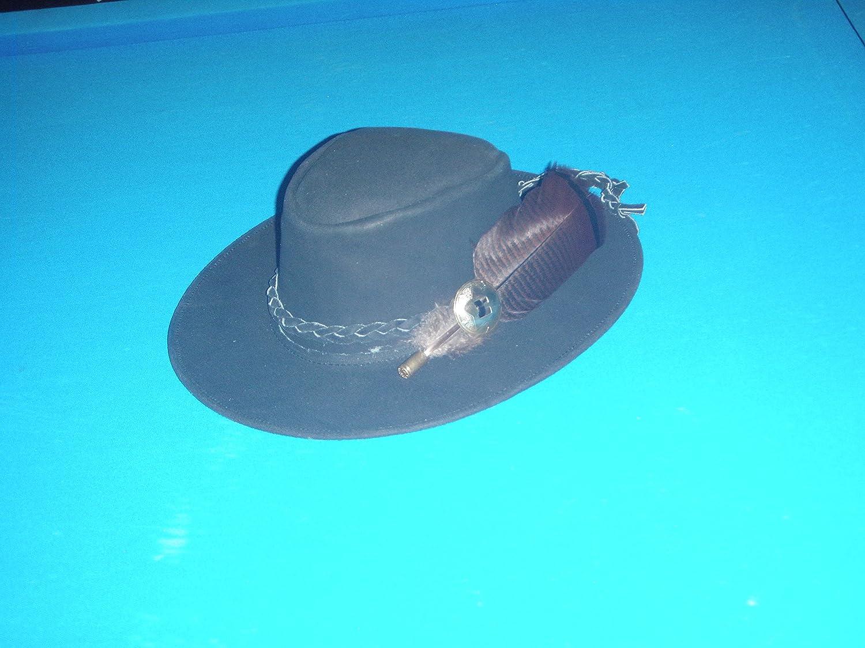 Sharpshooter Mountain Man Jeremiah Johnson Wanderlust Brown Leather Cowboy Hat
