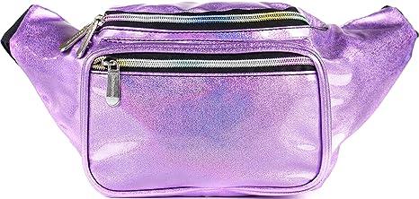 SoJourner Rave Purple Holographic Bum Bag Waist Pack  b32a672e46ea0