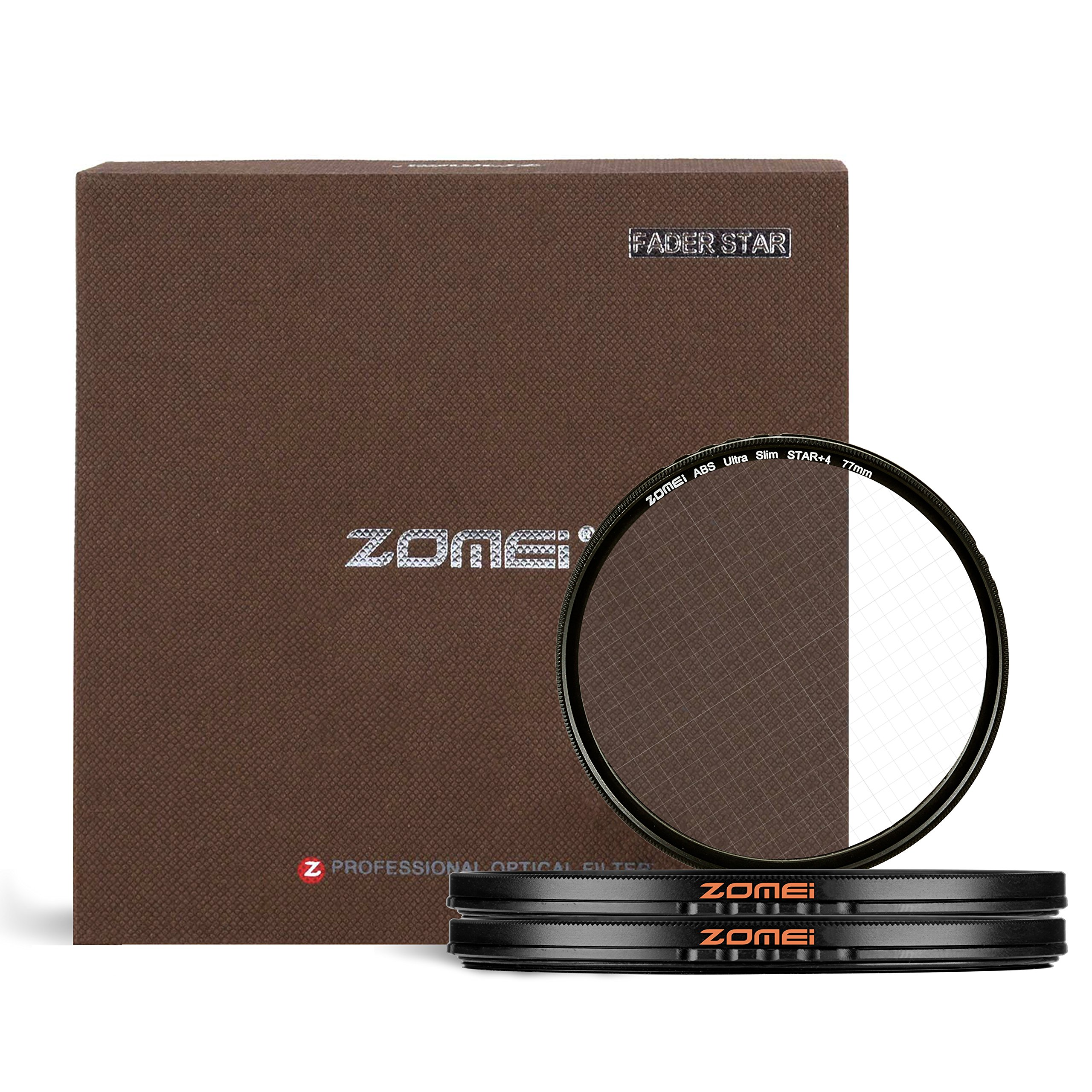 ZOMEI 77mm Cross Filter Set for Canon Nikon Sony Olympus and Other DSLR Camera, Includes:4 Points,6 Points and 8 Points by ZOMEI