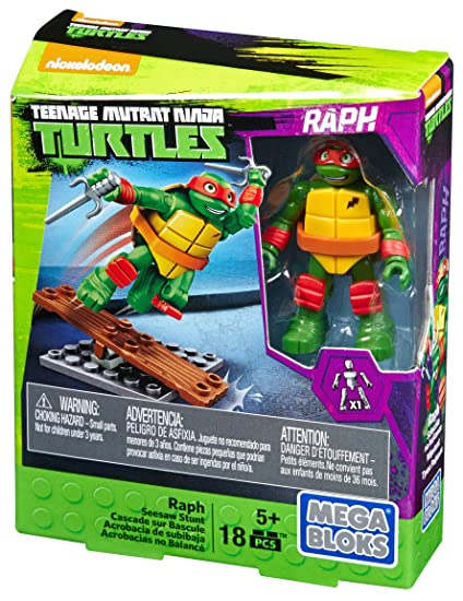 Amazon.com: mega bloks teenange Mutant Ninja Turtles Raph ...