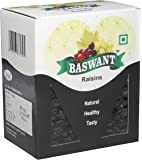 Baswant Jumbo Black Seedless Raisins | Kishmish - 1kg | Premium Quality Indian Dry Grapes