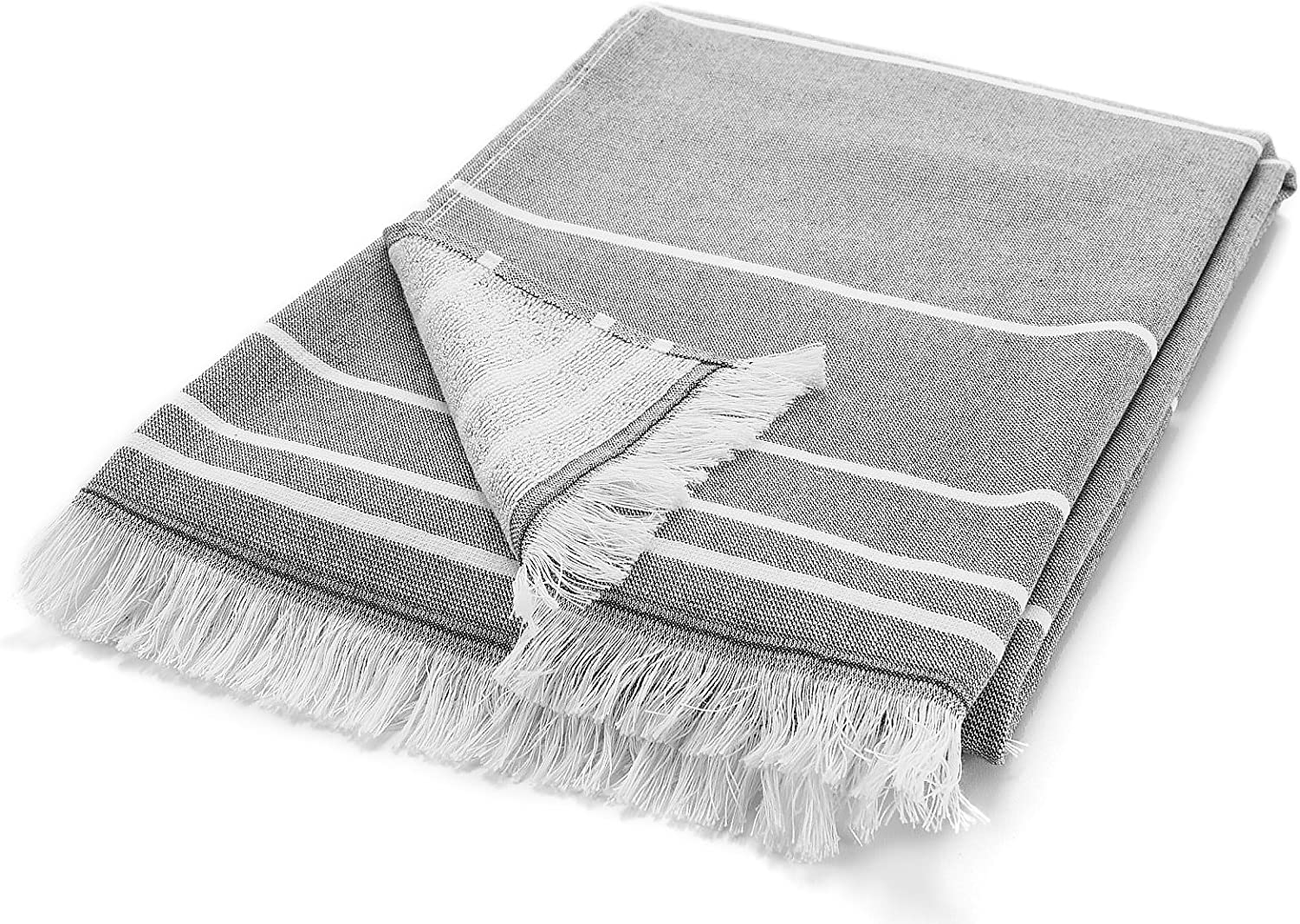 Pool and Gym Peshtemal Fouta Towel with Terry Cotton Loops on one Side Burgundy Arus Bath Beach 28x55