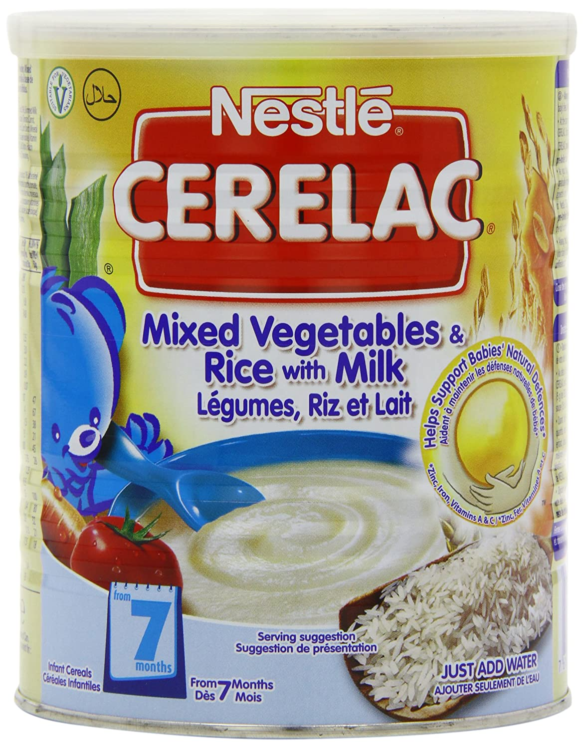 Nestl Cerelac Infant Cereals Mixed Vegetables and Rice 400 g (Pack of 4) DIMBL C04