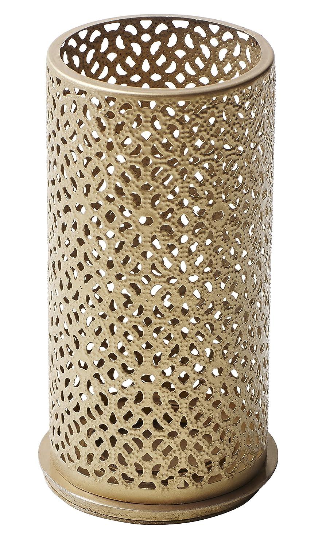Duni Métal Bougeoir blliss or 140x 75mm pour bougies pilier ou LED multicolore de Duni