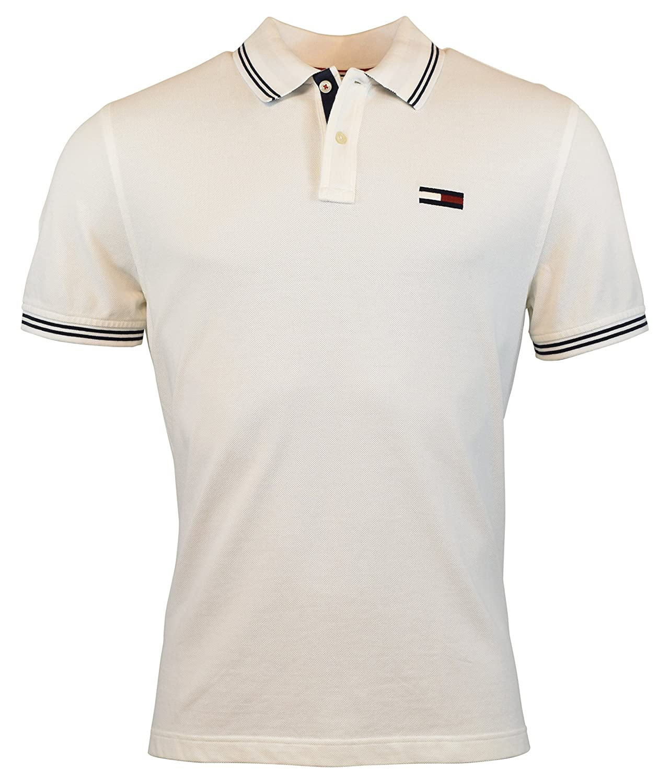 Tommy Hilfiger Denim Mens Custom Fit Big Logo Polo Shirt At Amazon