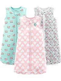 Simple Joys by Carter's Baby Girls' 3-Pack Cotton Sleeveless Sleepbag
