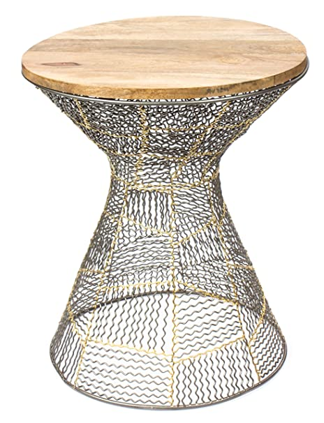 Amazon.com: Red Fig Home Accent Side End Table Metal Wire ... on home chairs, home entry tables, design tables, home coffee tables, decor tables, home goods tables, garden tables, home interiors tables, bed tables, home accent tables, home bar table sets, chair tables, home ironing tables, building tables, home art tables, jewelry tables, golf tables, board tables, home woodworking tables, kitchen tables,