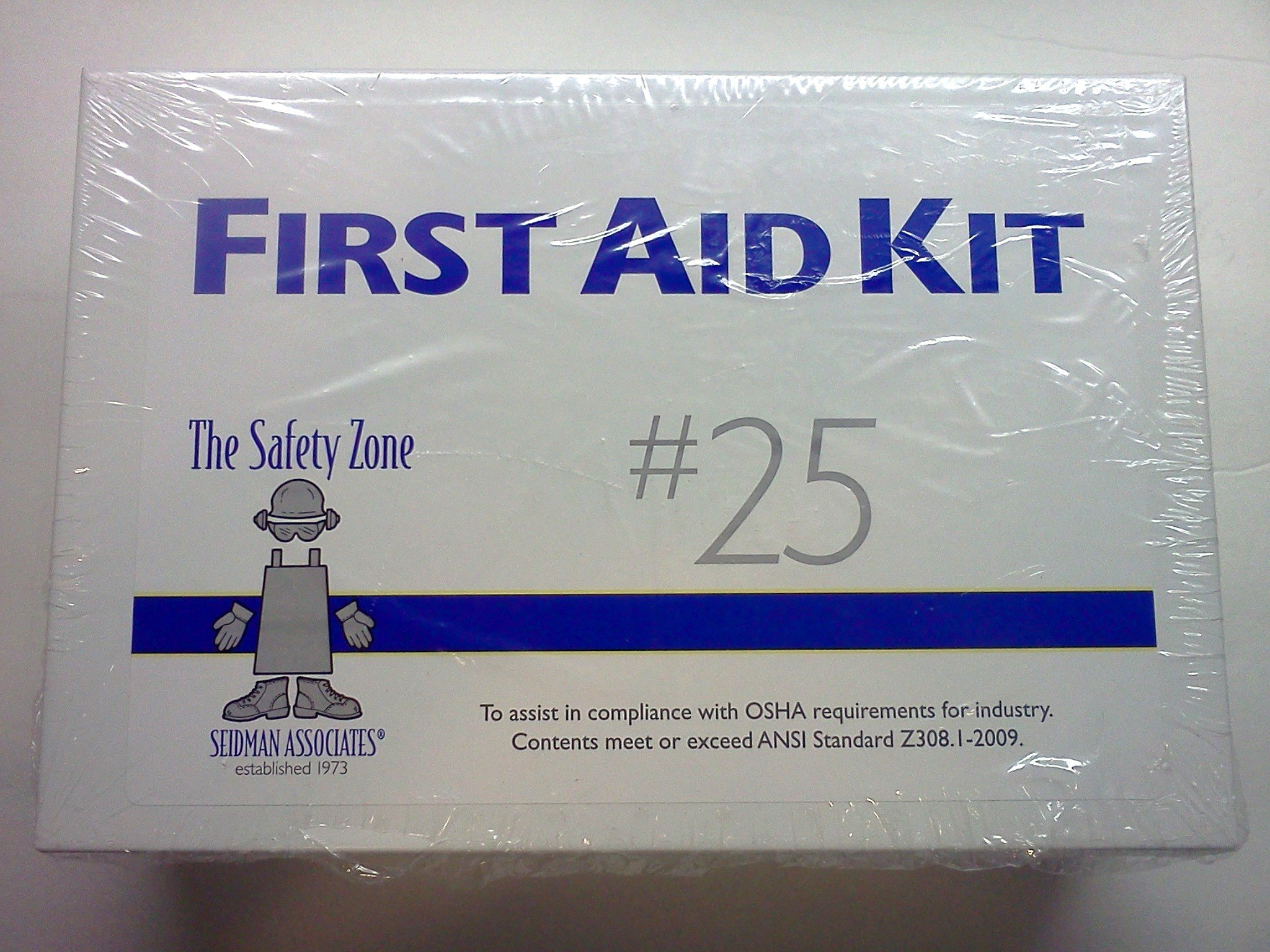 25 Person First Aid Kit, All Metal Case, Meets OSHA and ANSI Standards