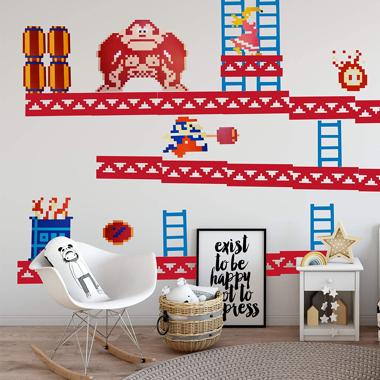 Amazon com donkey kong wall stickers childrens room decor baby
