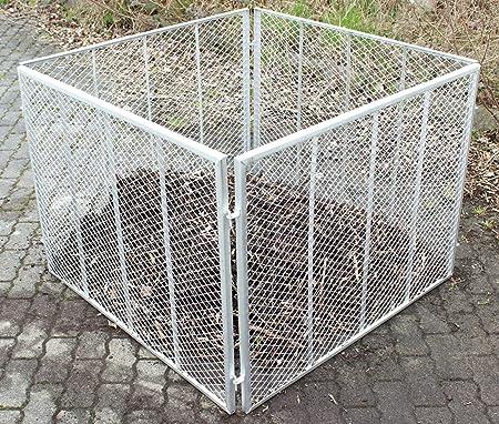 Baumarktplus Komposter Feuerverzinkt Metallkomposter Aus Streckmetall Gartenkomposter Kompostbehalter 100x100x80 Cm Amazon De Garten