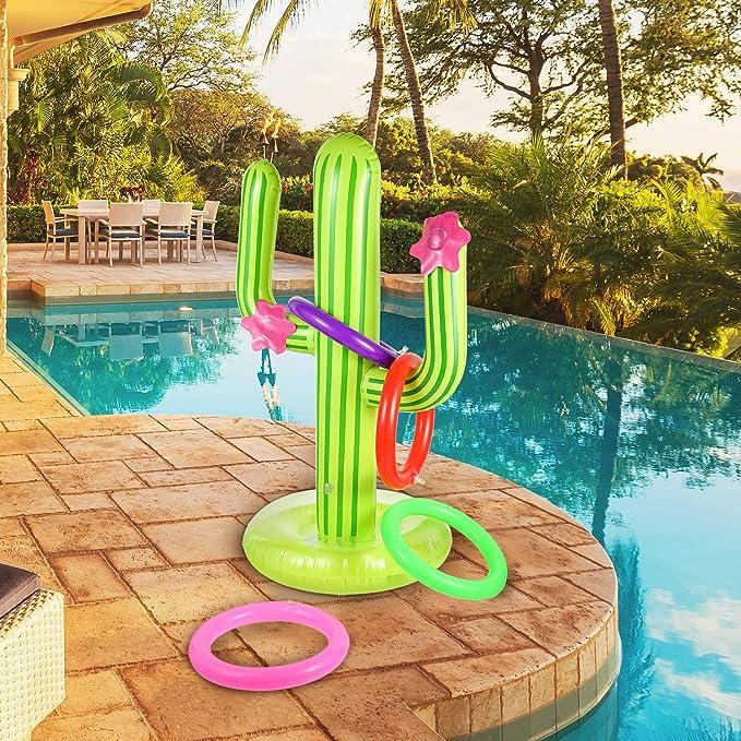 Amazon.com: Juego de 10 anillos de cactus inflables para ...