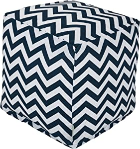Majestic Home Goods Chevron Cube, Small, Navy