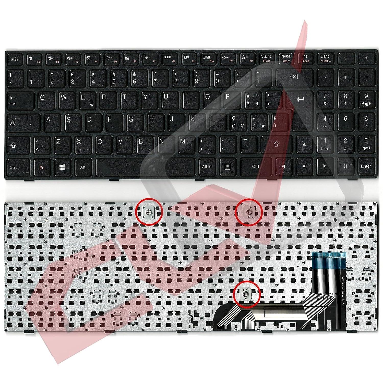Teclado italiano con marco negro para ordenador portátil Lenovo IdeaPad 100-15 100-15IB 100-15IBY 5N20H52645 904HL07S031 9Z.NCLSN.006 B50-10 IdeaPad 100 15 ...