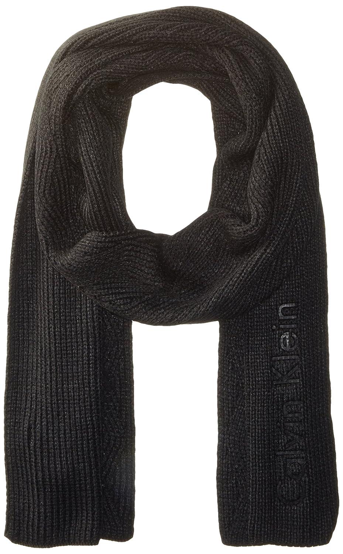 Calvin Klein mens Chunky Wave Scarf Black One Size Calvin Klein Neckties HKC63608-001