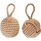 Esschert LH162 - Fermaporta in corda, a palla, 14 x 13 x 13 cm