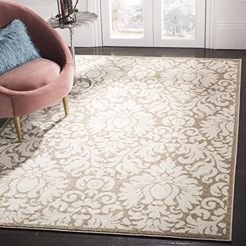 Safavieh Amherst Collection AMT427S Damask Area Rug, 8 x 10 , Wheat Beige