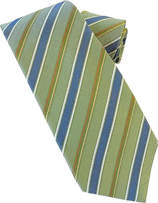 Corbata verde rayas - corbatas de hombre finas - corbata fabricado artesanal - 100% Seda - Pietro Baldini: Amazon.es: Ropa y accesorios