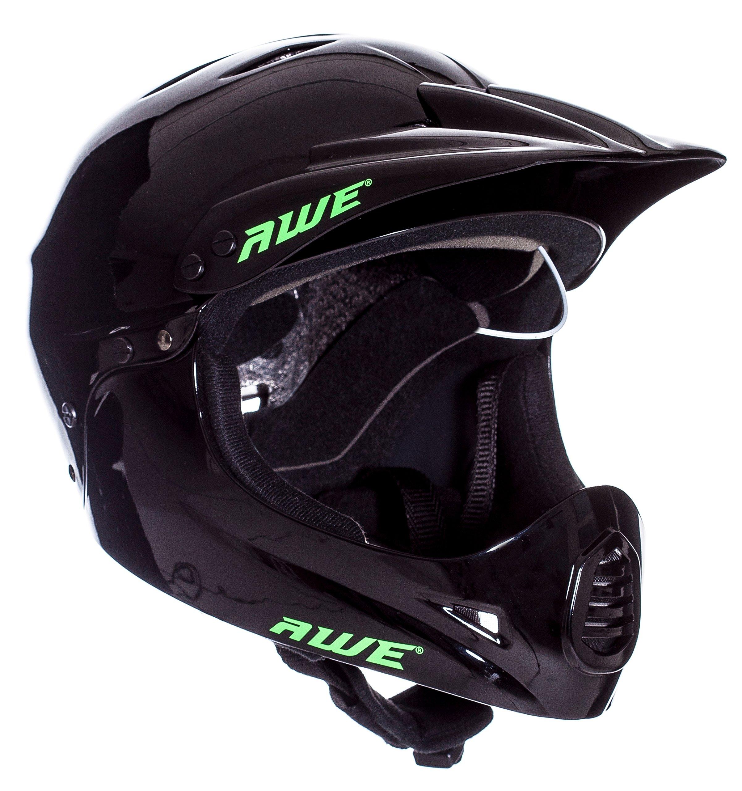 AWE FREE 5 YEAR CRASH REPLACEMENT Full Face Helmet Black Large