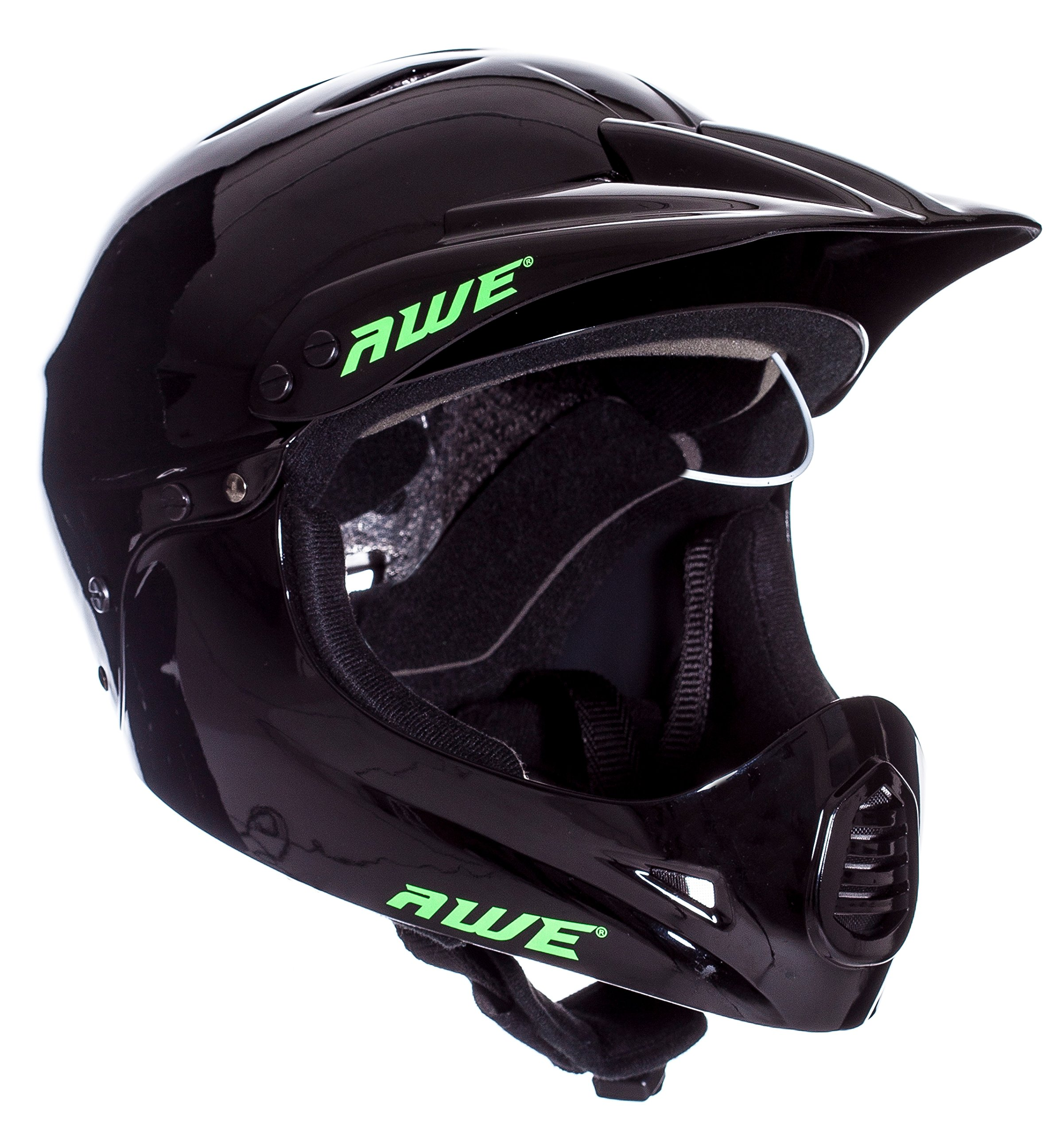 AWE FREE 5 YEAR CRASH REPLACEMENT Full Face Helmet Black Medium