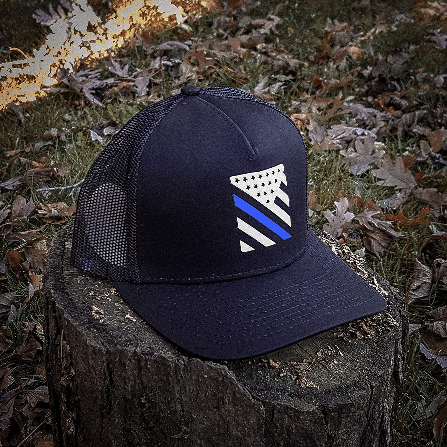 3593c40c6e8 Tactical Pro Supply Thin Blue Line Crest American Flag Snapback Hat at  Amazon Men's Clothing store: