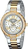 """GUESS Women's U0111L5 """"Sparkling Hi-Energy"""" Silver- And Gold-Tone Watch"""